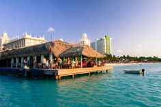 Aruba's Bugaloe Beach Bar & Grill --- one of the best beach bars in Aruba!! Killler live music on Fridays & Sundays!! LOVED THIS BAR!!!