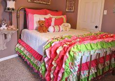 Garden Ruffled Bedding by LikeMyMotherDoes on Etsy, $120.00