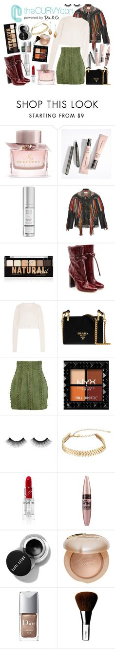 """curvy hips & red lips"" by ze-a-ed on Polyvore featuring mode, Burberry, Gucci, NYX, Malone Souliers, TIBI, Prada, Balmain, Urban Decay et Rebecca Minkoff"