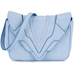ELENA GHISELLINI Felix Blue Leather Clutch (30.865 RUB) ❤ liked on Polyvore featuring bags, handbags, clutches, light blue leather purse, leather handbags, light blue purse, embossed handbags and blue leather purse