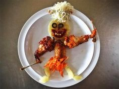 Creepy and unappetizing food designs ,for example for Halloween (30 photos).