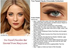 Macy's.com Too Faced Chocolate Bar Tutorial
