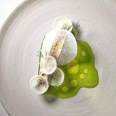 Spanish mackerel, radish, and dill by Plate Design, Food Design, Michelin Food, Food Plating Techniques, Spanish Mackerel, Modernist Cuisine, Food Decoration, Edible Art, Culinary Arts