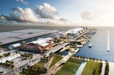 Chicago Navy Pier Proposal - by Aedas + Martha Schwartz Partners #arquitetura #architecture #chicago #pier #proposta #proposal #boulevard