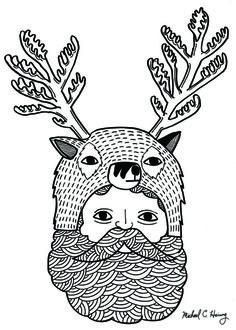 Portrait of Northern Deer Man