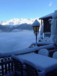 Ba bouge le matin à Mase, Valais,Suisse :)
