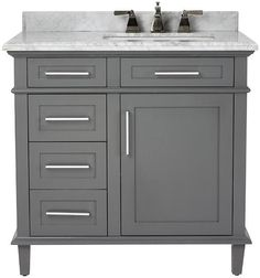 Home Decorators - could see this with a pure white countertop