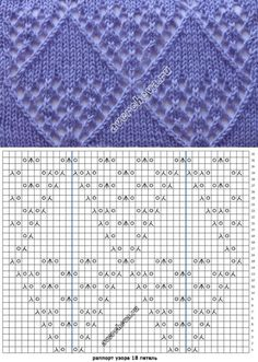 Lace diamonds knitting pattern