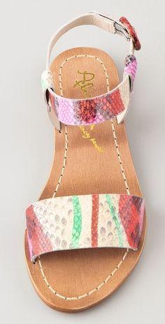 alice + olivia Bella Print Flat Sandals | SHOPBOP