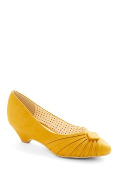 Burst of Fresh Flair Heel in Yellow - Comfort consideration. Although, I think this style makes me look kind of squat-ish. Good color though. $64.99