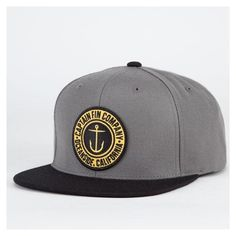 Snapback Fashion Blog CAPTAIN FIN Anchor Button Mens Snapback Hat