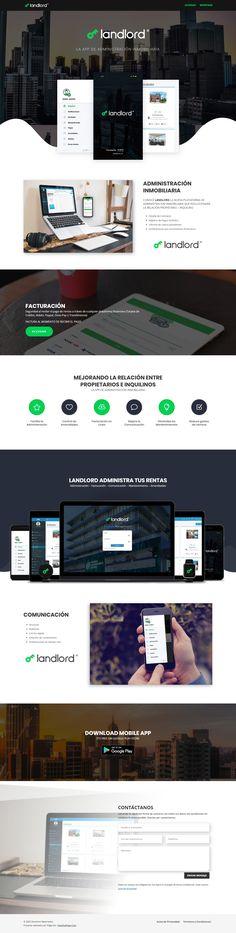 Diseño de Paginas Web - LA APP DE ADMINISTRACIÓN INMOBILIARIA - www.landlord.mx, proyecto desarrollado en el 2018 por HostingPage.Com 20 AÑOS DESARROLLANDO PAGINAS WEB Somos una Agencia de soluciones creativas e integrales de comunicación, diseño web, desarrollo, programación y mercadotecnia para web y móviles. Desktop Screenshot, Design Portfolio Layout, Page Layout, Design Web