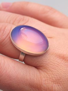Large Mood Ring Color Changing Sterling Silver by proteales, $60.00