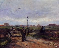Vincent van Gogh — The Outskirts of Paris, 1886, Vincent van...