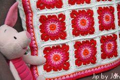 Kleurrijk haken Jip by Jan kussenhoes Granny squares