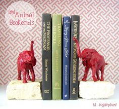 DIY animal bookends