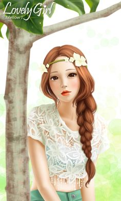 """Find and save images from the """"LOVELY GIRL"""" collection by QUEENNA (naddyunicorn) on We Heart It, your everyday app to get lost in what you love. Lovely Girl Image, Girls Image, Girls In Love, Cute Girls, Anime Korea, Illustration Art Nouveau, Girly M, Cute Cartoon Girl, Cute Girl Drawing"""