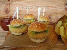 Receta Entrante : Mini hamburguesas de garbanzos al azafrán por Sacaelcucharon
