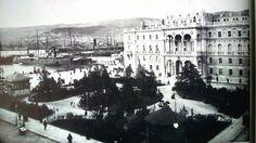 Piazza San Pietro sotto l'Impero Austroungarico, attualmente Piazza Unità d'Italia