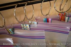 binder rings and clips