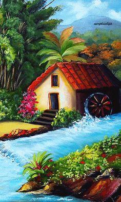 Landscape Wallpaper Pastel 23 Ideas For 2019 Beautiful Scenery Drawing, Drawing Scenery, Scenery Paintings, Indian Art Paintings, Beautiful Nature Wallpaper, Nature Paintings, Beautiful Paintings, Beautiful Landscapes, Watercolor Scenery