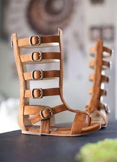 Joyfolie Rust Gladiator Boot Sandal for little girls! How adorable!                                                                                                                                                                                 More