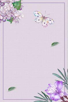 Floral Watercolor Background, Flower Background Images, Frame Background, Flower Photos, Background Patterns, Watercolor Flowers, Frame Floral, Flower Frame, Purple Backgrounds