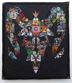 heavy metal patchwork quilts by ben venom. Metal Shirts, Old T Shirts, Band Shirts, Black Metal, Heavy Metal, Metalhead, Quilt Making, Hard Rock, Arts And Crafts