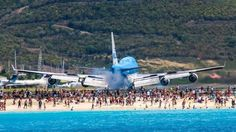 St Maarten 747 landing!