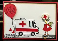 Tasty truck ambulance card