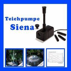 Einzelpumpe SIENA Solarpumpe Bachlaufpumpe Tauchpumpe Gartenpumpe 101758