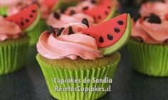 Receta de Cupcakes de Sandia