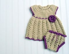 crochet baby dress Free Domestic Shipping by LoopItBaby on Etsy