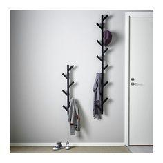 TJUSIG Hanger - black - IKEA For the space between his bdrm door and bookshelf, under his light switch.