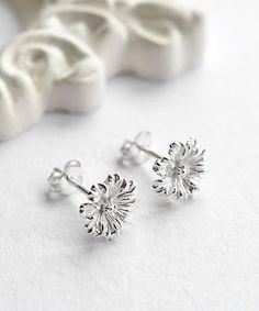 Sterling Silver Cosmos Flower Stud Earrings #zulily #zulilyfinds