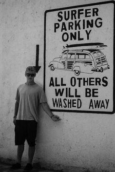 Surfer parking.