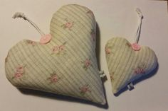 Peony and Sage Heidi Rose Organic Lavender Hearts. Hand sewn by Cwtches Crafts.