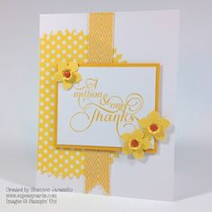 Clean and Simple Saturday - Daffodil Thanks - FMS133 Love those flowers made with the petite petals punch!