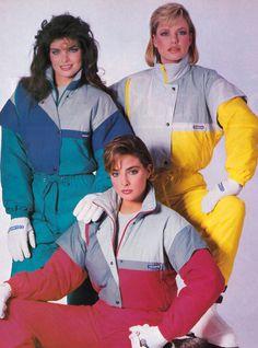 1980s vintage ski ware, Harpers Bazaar