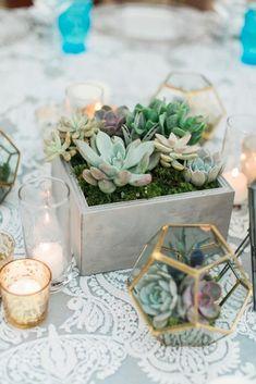 Ideas For Succulent Wedding Centrepiece Terrarium Centerpiece Trendy Wedding, Floral Wedding, Diy Wedding, Wedding Reception, Wedding Flowers, Dream Wedding, Elegant Wedding, Wedding Ideas, Geometric Wedding