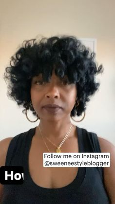 Black Curly Hair, Short Curly Hair, Curly Hair Styles, Short Natural Curly Hairstyles, Short Pixie, Black Women Hairstyles, Cool Hairstyles, Natural Hair Care, Natural Hair Bangs