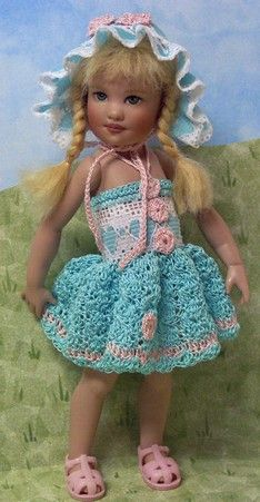"Hand crochet for 8"" Avery Kish Doll by JDL Doll Clothes"