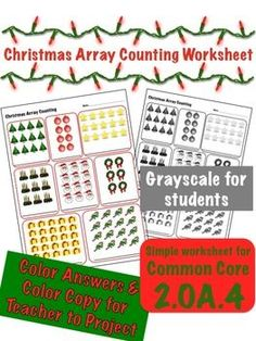 1 page worksheet to practice Common Core Standard 2.OA.4.