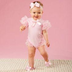 Adorable #pink #ruffles #baby #cute #adorable