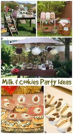 Milk & Cookies Party Ideas #Birthday http://www.momsandmunchkins.ca/2014/05/02/cookie-party/