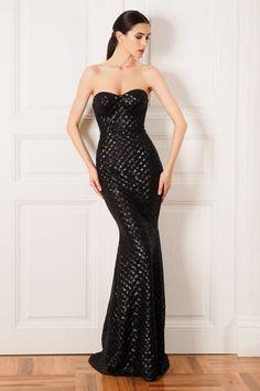 Rochie de seara lunga sirena din paiete 3D SKA418