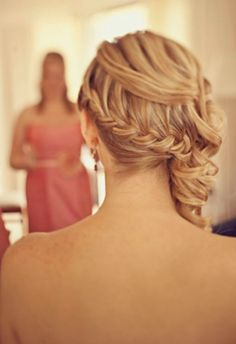 Bride in Braids, Same style we did for ashleys wedding :)