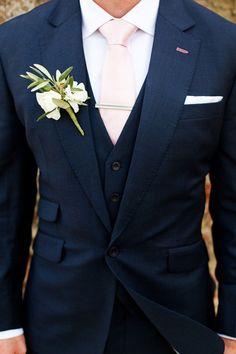 Wedding Ideas By Colour: Navy and Blush Wedding Theme - Groom style | CHWV  #wedding #weddingdress #dress #blush #bride #groom #summerwedding #summer