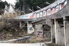 1984 Olympics in Sarajevo An abandoned bobsled track in Sarajevo, Yugoslavia (now Bosnia and Herzegovina).