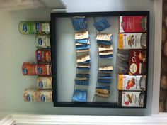 Easy tea storage from an old frame